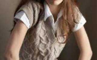 Татьянин день (праздник всех студентов): вязание безрукавки