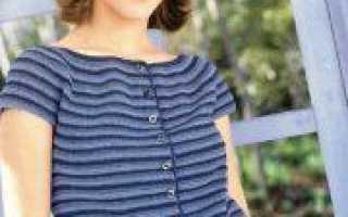 Кофта с круглой кокеткой спицами: вязание ажурного узора