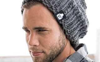Мужская шапка бини спицами: описание, схемы, видео МК, 5 моделей