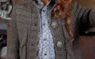Вязаное детское пальто для мальчика и девочки