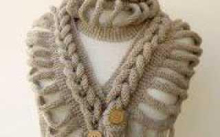 Оригинальный шарф спицами: способы вязания по схеме