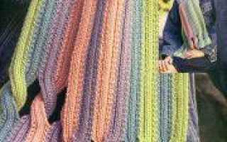 Вязание женских шарфов спицами по видеоурокам