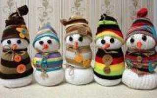 Снеговик спицами мастер-класс вязания с пошаговыми фото
