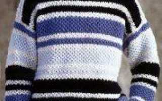 Вяжем спицами мужской джемпер (схема и описание)