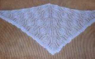Благовещение: вязание спицами платка (фото и схемы)