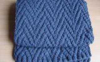 Двухсторонние узоры спицами для шарфов: подборка схем