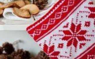 Вязание спицами международный женский день: прихватка