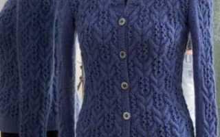 Вязание спицами кофты на пуговицах по схеме с подробным описанием