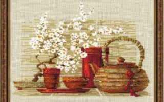 Вышивка для кухни в бесплатных схемах и ярких натюрмортах