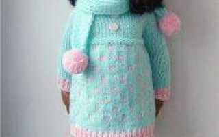 Вязаная одежда для кукол спицами (фото и видео)
