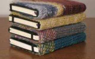 День строителя: обложки для ежедневников и книг спицами