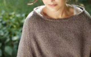 Пуловер реглан спицами женский сверху: две модели вязания