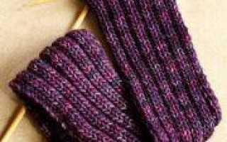 Шарф английской резинкой: схема вязания спицами