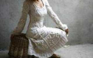 Вязаные теплые платья спицами (фото и видео материал)