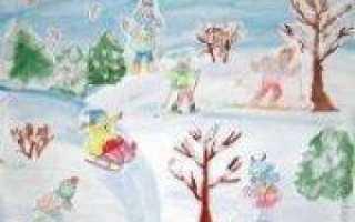 Аппликация зимние забавы по подробным инструкциям и фото МК