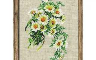 Вышивка крестом ромашек с подборкой красивых схем