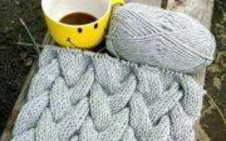 Объемные косы спицами: схемы вязания разных видов