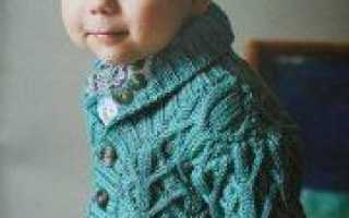 Жакет спицами для мальчика со схемой и описанием