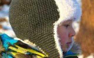 Шапка ушанка спицами: мастер-класс вязания (фото)