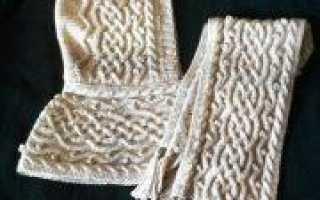 Башлык спицами схема вязания шарфа-капюшона