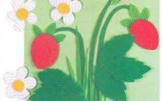 Аппликация лето из цветной бумаги и пластилина в пошаговом мастер-классе