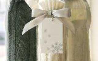 Троица: вязание чехла для подсвечника и бутылки по схеме