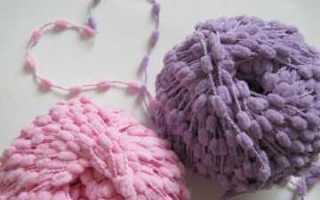 Пряжа с помпонами: особенности и техника вязания модных изделий