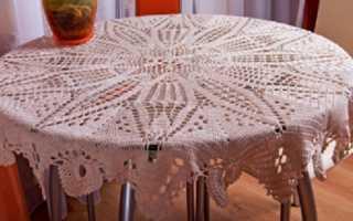 Филейное вязание крючком скатерть схемы, описание: 15 моделей