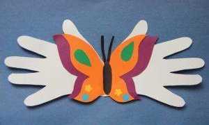 Аппликация Бабочка в пошаговых мастер-классах с трафаретами и шаблонами