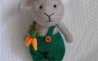 Празднование Пасхальной недели: вяжем кролика спицами