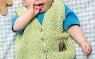 Жилетка спицами для малыша с выкройкой