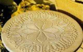 День учителя: вязание оригинальных салфеток в подарок