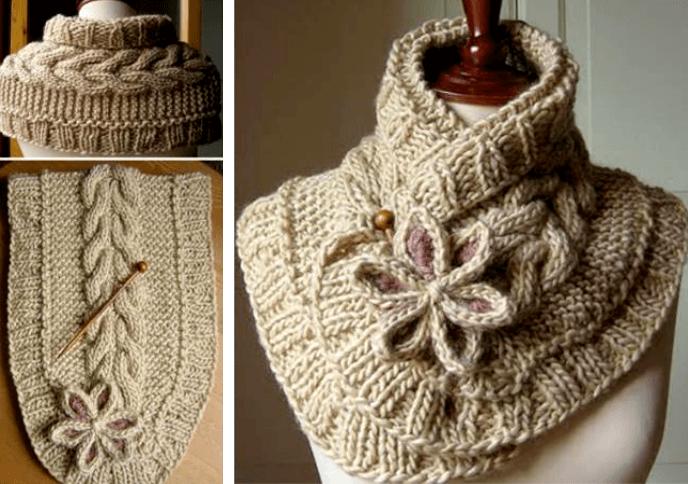 Женский необычный шарф