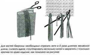 Бахрома для шарфа