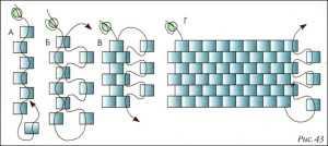 Схема мозаичного плетения из бисера