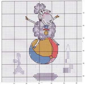 Цветная схема с овечкой