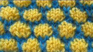 Двухцветный узор буфы