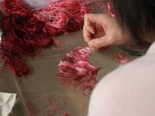 Китайская вышивка шелком