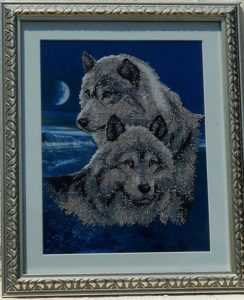 Картина с парой волков