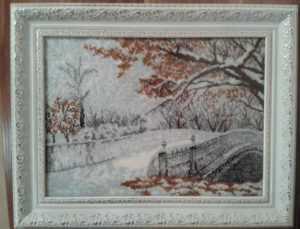 Картина с полной зашивкой бисером