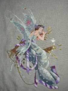 Вышивка с изображением феи